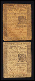 Colonial Notes:Pennsylvania, Pennsylvania July 20, 1775 30s Fine Pair.. ... (Total: 2 notes)
