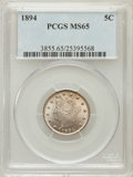 Liberty Nickels: , 1894 5C MS65 PCGS. PCGS Population (61/27). NGC Census: (57/22).Mintage: 5,413,132. Numismedia Wsl. Price for problem free...