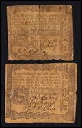 Colonial Notes:Pennsylvania, Pennsylvania April 3, 1772 2s 6d Very Good Pair.. ... (Total: 2notes)
