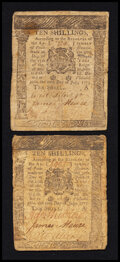Colonial Notes:Pennsylvania, Pennsylvania July 20, 1775 10s Very Fine Duo.. ... (Total: 2 notes)