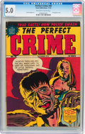 Golden Age (1938-1955):Crime, Perfect Crime #30 (Cross Publications, 1952) CGC VG/FN 5.0 Off-white to white pages....