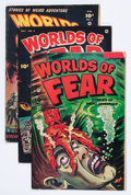 Golden Age (1938-1955):Horror, Worlds of Fear Group (Fawcett Publications, 1952-53).... (Total: 5Comic Books)
