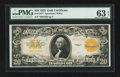 Large Size:Gold Certificates, Fr. 1187* $20 1922 Gold Certificate PMG Choice Uncirculated 63 EPQ.. ...
