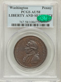 Colonials, Undated PENNY Washington Liberty & Security Penny AU58 PCGS.CAC. Baker-30, W-11050, R.2....