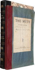 Books:Literature 1900-up, Carson McCullers. The Mute. Boston: Houghton MifflinCompany, 1940. Proof copy. Printed paper label on front cov...