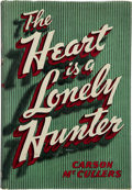 Books:Literature 1900-up, Carson McCullers. The Heart is a Lonely Hunter. Boston:Houghton Mifflin Company, 1940. First edition, first printin...