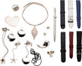 Estate Jewelry:Other , Sterling Silver, Gold, Leather Items, Tiffany & Co. . ...