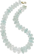 Estate Jewelry:Necklaces, Aquamarine Necklace. ...