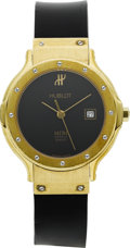 Estate Jewelry:Watches, Hublot Lady's Gold, Rubber Strap MDM Wristwatch, modern. ...