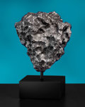 Meteorites:Irons, LARGE CAMPO DEL CIELO METEORITE WITH CUSTOM PEDESTAL. Iron, coarse octahedrite - IAB-MG . Gran Chaco, Argentina - (27°...