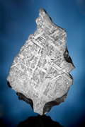 Meteorites:Palasites, GIBEON METEORITE - LEAF-SHAPED END PIECE. Iron, fine octahedrite - IVA . Great Nama Land, Namibia - (25° 30'S, 18° 0'E...
