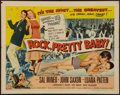 "Movie Posters:Rock and Roll, Rock, Pretty Baby (Universal International, 1957). Half Sheet (22""X 28"") Style A. Rock and Roll.. ..."