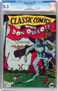 Golden Age (1938-1955):Classics Illustrated, Classic Comics #11 Don Quixote - Original Edition (Gilberton, 1943)CGC VF+ 8.5 White pages....