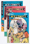 Golden Age (1938-1955):Miscellaneous, Ace Comics Group (David McKay Publications, 1946-49) Condition: Average VG/FN.... (Total: 9 Comic Books)