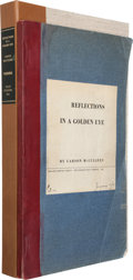 Books:Literature 1900-up, Carson McCullers. Reflections in a Golden Eye. Boston:Houghton Mifflin Company, 1941. Original Galley Proofs. Ins...