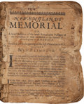 Books:Americana & American History, [Nathaniel Morton. New-Englands Memoriall: or, A brief Relation of the most Memorable and Remarkable Passages of the Pro...