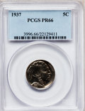 Proof Buffalo Nickels: , 1937 5C PR66 PCGS. PCGS Population (748/399). NGC Census:(480/358). Mintage: 5,769. Numismedia Wsl. Price for problemfree...
