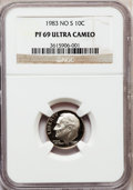 Proof Roosevelt Dimes: , 1983 10C No S PR69 Ultra Cameo NGC. PCGS Population (86/0).Numismedia Wsl. Price for problem free NGC/...