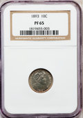 Proof Barber Dimes: , 1893 10C PR65 NGC. NGC Census: (44/71). PCGS Population (29/38).Mintage: 792. Numismedia Wsl. Price for problem free NGC/P...