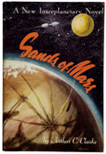 Books:Science Fiction & Fantasy, Arthur C. Clarke. Sands of Mars. New York: Gnome, [1952]. First American edition. Inscribed by Clarke to Gnome Pre...