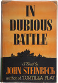 Books:Fiction, John Steinbeck. In Dubious Battle. New York: Covici-Friede,[1936]. First edition....