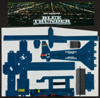 "Blue Thunder (Columbia, 1983). Helicopter Cardboard Mobile (10"" X 14""). Action"