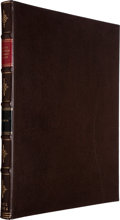 Books:Natural History Books & Prints, Charles Darwin. A Monograph on the Fossil Cirripedes of Great Britain. London: Printed for the Palaeontographical So...