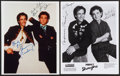 """Movie Posters, Bronson Pinchot and Mark Linn-Baker in Perfect Strangers (Lorimar,1989). Autographed Original Photo (8"""" X 10"""") and Reprint ...(Total: 2 Items)"""