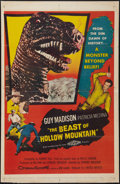 "Movie Posters:Science Fiction, The Beast of Hollow Mountain (United Artists, 1956). One Sheet (27""X 41""). Science Fiction.. ..."