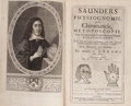 Books:Metaphysical & Occult, Richard Saunders. Saunders Physiognomie, and Chiromancie,Metoposcopie, the Symmetrical Proportions and SignalMol...