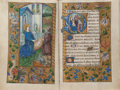 Books:Manuscripts, [Book of Hours]. Artois [St.-Omer] France. [n.d., ca.sixteenth-century]. Small quarto. Approximately 8.5 x 5.75 inches.Sev...
