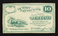 Obsoletes By State:Ohio, Cuyahoga Falls, OH- Summit County Bank 10¢ 1862. ...