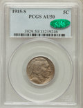 Buffalo Nickels: , 1915-S 5C AU50 PCGS. CAC. PCGS Population (25/718). NGC Census:(4/488). Mintage: 1,505,000. Numismedia Wsl. Price for prob...
