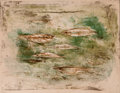 Prints:Contemporary, ZAO WOU-KI (Chinese, b. 1921). Les Poissons, 1953. Colorlithograph. 17-1/8 x 22-1/2 inches (43.4 x 57.2 cm). Ed. 44/55...