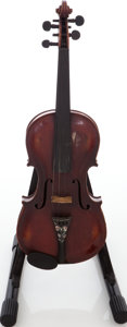 Musical Instruments:Violins & Orchestra, Mid 1800s Hopf Brown Stain Violin....