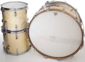 Musical Instruments:Drums & Percussion, Circa 1941 Leedy Broadway White Marine Pearl 3-Piece Drum Set....