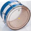 "Musical Instruments:Drums & Percussion, 1968 Ludwig Keystone Blue Sparkle 15"" Marching Tom Tom Drum, Serial# 637834...."