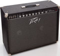 Musical Instruments:Amplifiers, PA, & Effects, 1980s Peavey Classic Black Guitar Amplifier, Serial # 4A15279...