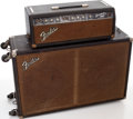 Musical Instruments:Amplifiers, PA, & Effects, 1964 Fender Bassman Black Guitar Amplifier Head and Cabinet, Serial# BP11880....