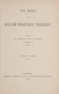 Books:Fine Bindings & Library Sets, William Makepeace Thackeray. The Works of William MakepeaceThackeray. London: Smith, Elder & Co., 1869-1886. Comple...(Total: 24 Items)