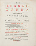 Books:Music & Sheet Music, John Gay. The Beggar's Opera As it is Acted at theTheatre-Royal... London: John Watts, 1729. Third edition.[Boun...