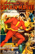 Memorabilia:Poster, Adventures of Captain Marvel Chapter 1 Serial Poster (Republic, 1941)....