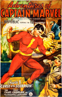 Adventures of Captain Marvel Chapter 1 Serial Poster (Republic, 1941)