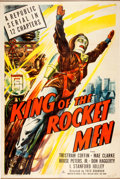 Memorabilia:Poster, King of the Rocket Men Serial Poster (Republic, 1949)....
