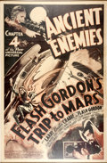 "Memorabilia:Poster, Flash Gordon's Trip to Mars Chapter 4 ""Ancient Enemies""Serial Poster (Universal, 1938)...."