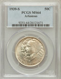 Commemorative Silver: , 1939-S 50C Arkansas MS64 PCGS. PCGS Population (224/307). NGCCensus: (182/227). Mintage: 2,105. Numismedia Wsl. Price for ...