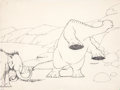 Animation Art:Production Drawing, Winsor McCay Gertie the Dinosaur Production Drawing #20Animation Art (1914)....