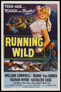 "Movie Posters:Bad Girl, Running Wild (Universal, 1955). One Sheet (27"" X 41""). Bad Girl...."