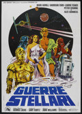 "Movie Posters:Science Fiction, Star Wars (20th Century Fox, 1977). Italian 2 - Folio (39"" X 55"").Science Fiction...."