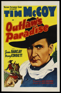 "Outlaw's Paradise (Victory Pictures Corporation, 1939). One Sheet (27"" X 41""). Western"